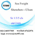 Shenzhen Port LCL Consolidation To  Ulsan