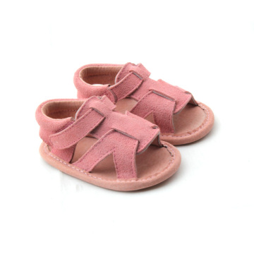 Genuine Leather Pink Baby Girls Shoes Sanduals
