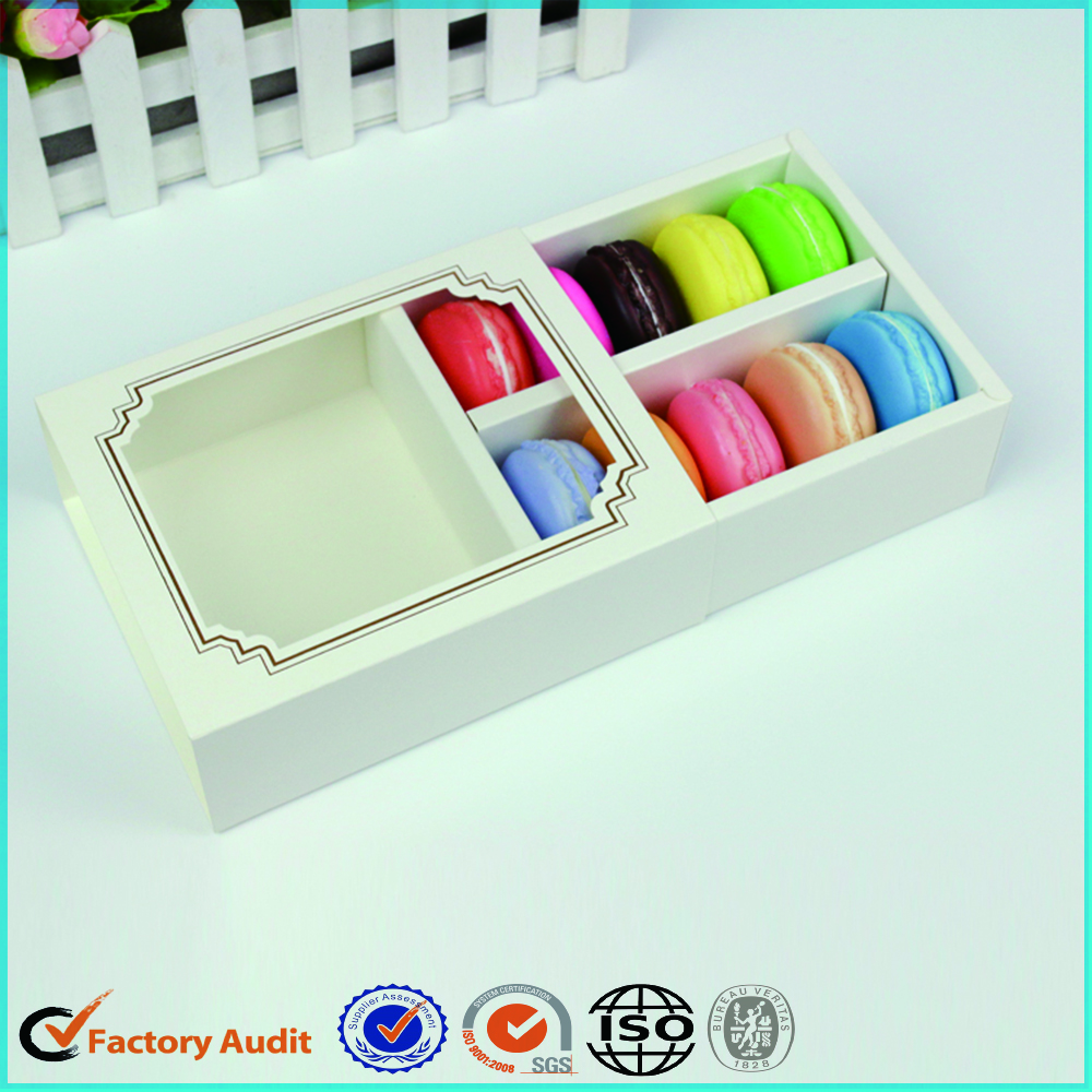 White Macarons Box With Window