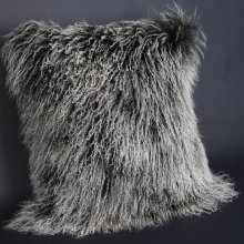 New Product for Mongolian Lamb Fur Cushions Soft Mongolian Fur Cushion export to Netherlands Factories