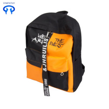 Backpack fashionable contrast color personality travel
