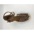 Brown latin shoes for girls