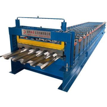 Galvanized steel deck flooring roll forming machine