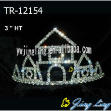 "Wholesale 3 "" Castle  pageant crowns tiaras"