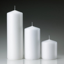 White Unscented Cheap Point Top Pillar Candles