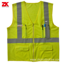 EN 20471 Yellow High visible warning clothing