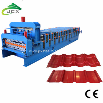 double deck steel roofing tile roller machine
