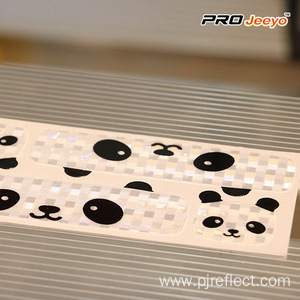 Reflective Adhesive Panda Patches For Cycling