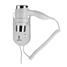 1600W Wall Mounted Hotel Bathroom White Hair Dryer