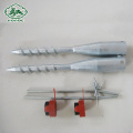 Galvanized Small Ground Anchors Screw Fence Post