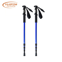 4 Rubber Tip Adjustable Length Trekking Hiking Pole