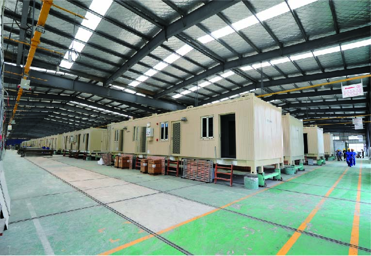 production line-3 for Modular Accommodation Building Container Type