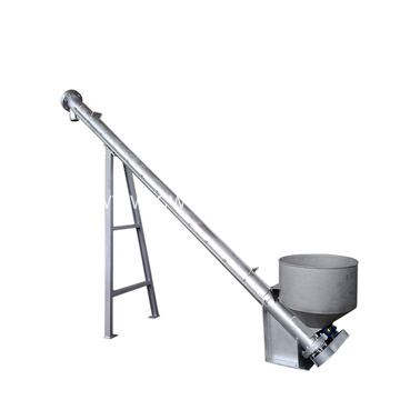 Coal incline screw conveyor system with hopper