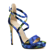 Summer Cross Strappy High Heels for Ladies