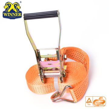 Orange Polyester Cargo Lashing Ratchet Strap Belt For Wholesale