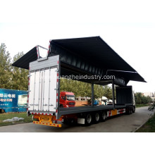China for Open Wings Van Truck Wings Open Cargo Semi Trailer (Three-axis) export to New Zealand Suppliers