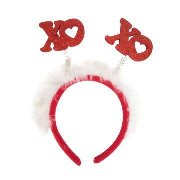 "Easter party headband with ""XO"" pattern"