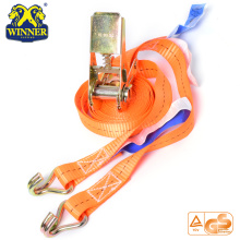 High Quality for Cargo Securing Strap Certification Polyester Webbing Tie Down Ratcheting Straps export to Lao People's Democratic Republic Importers