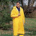 Heavy-Weight PVC Over Polyester Detachable Hooded Raincoats