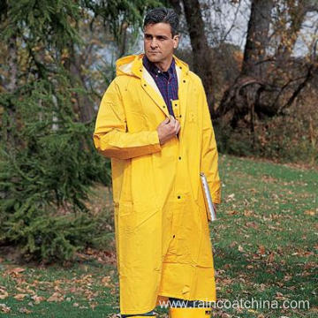 Special for PVC/Polyester Hooded Raincoats Mens Yellow Waterproof Rain Coat supply to Austria Importers