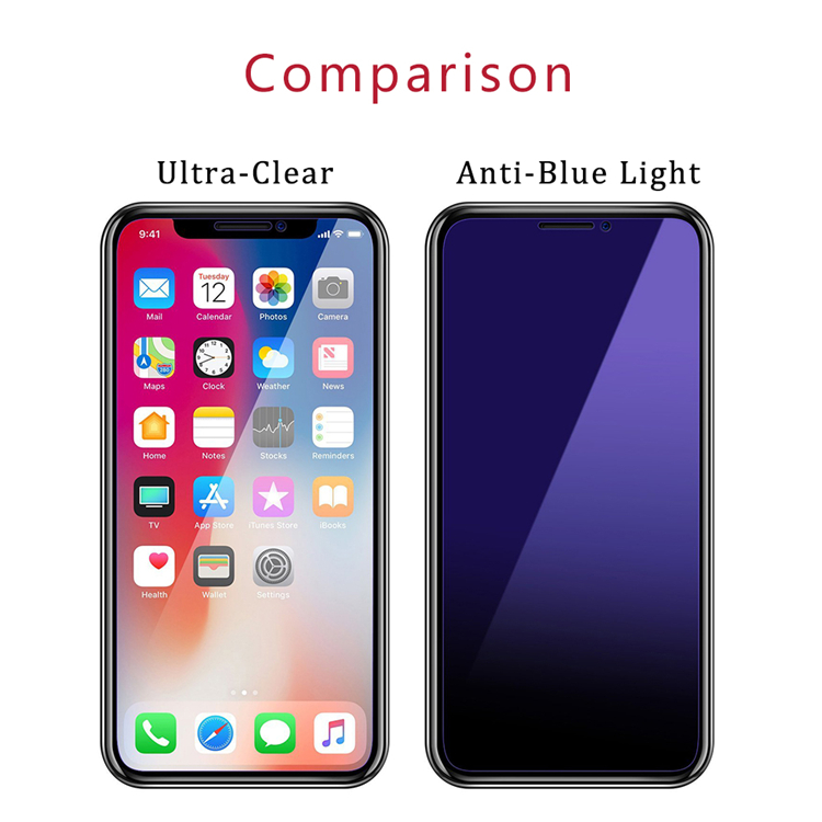 iPhone Anti Blue Light Tempered Glass
