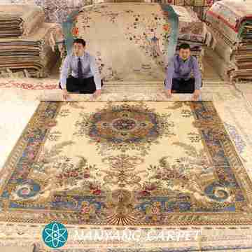 9'x12' Large Aubusson Design Handwoven Carpet
