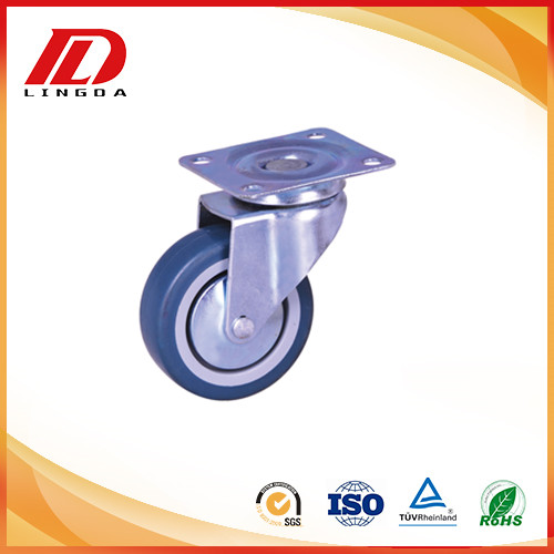 3 inch plate caster with TPE wheels