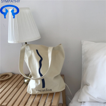 Daily casual canvas bag with shopping bag
