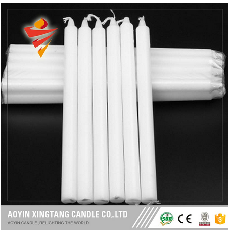 2017 New Pure Paraffin White Candle