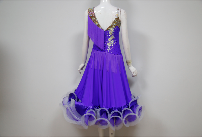 Purple dresses for Ballroom Dancing