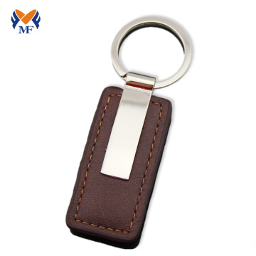 Genuine leather keychain fob idea