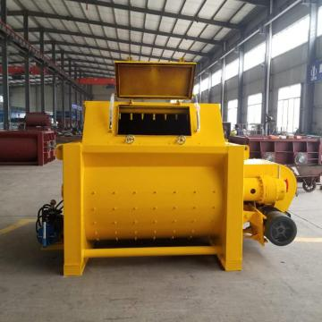 Self loading 1.5m3 double shaft JS concrete mixer