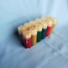 Small Color Round Bottle Bamboo Toothpick High Quality