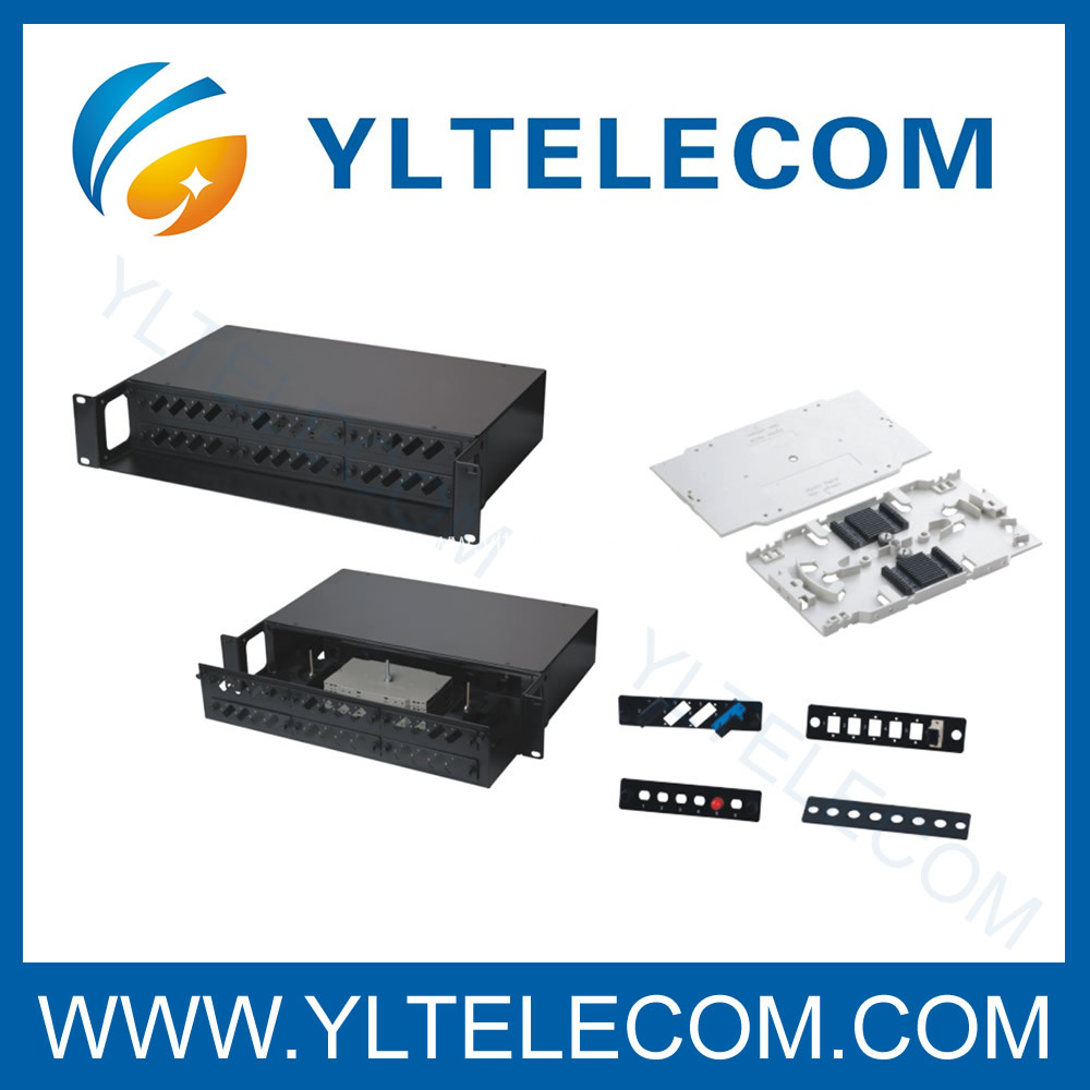 FO Patchpanels 2U Sliding black
