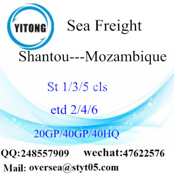 Shantou Port Sea Freight Shipping To Mozambique