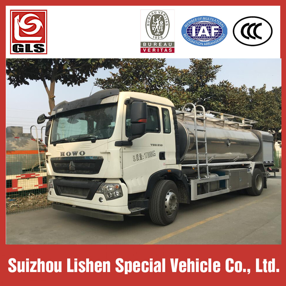 Sinotruk Howo Fuel Tank Truck 15000L Oil Transportation