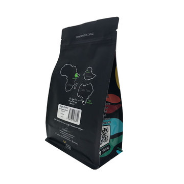 Wholesale Block Bottom Kraft Paper  Coffee Bag
