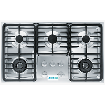 Miele SS Top Gas Stove 5 Burner