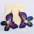 New Design Butterfly Wooden Handmade Woven Thread Earring