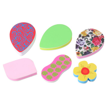 Lovely Pattern Nail File Eva Sponge Nail Buffer