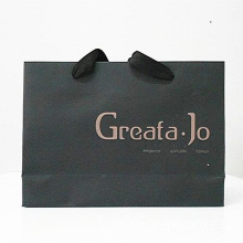 Black Custom Embossing Logo Environment Friendly Paper Bag