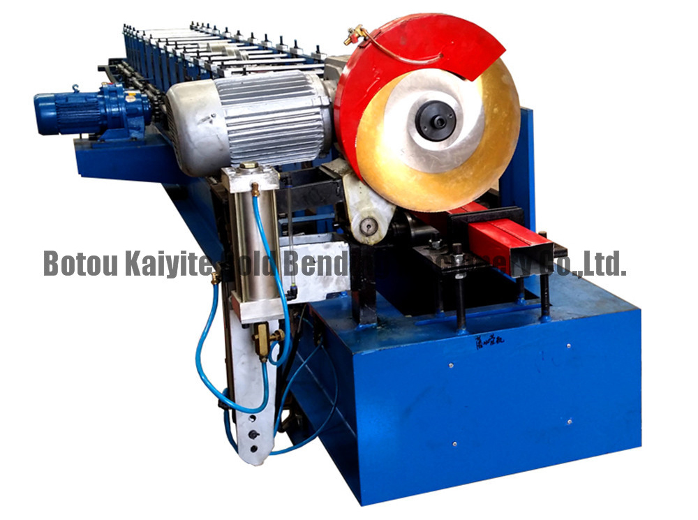Rainspout pipe downspout roll forming machine