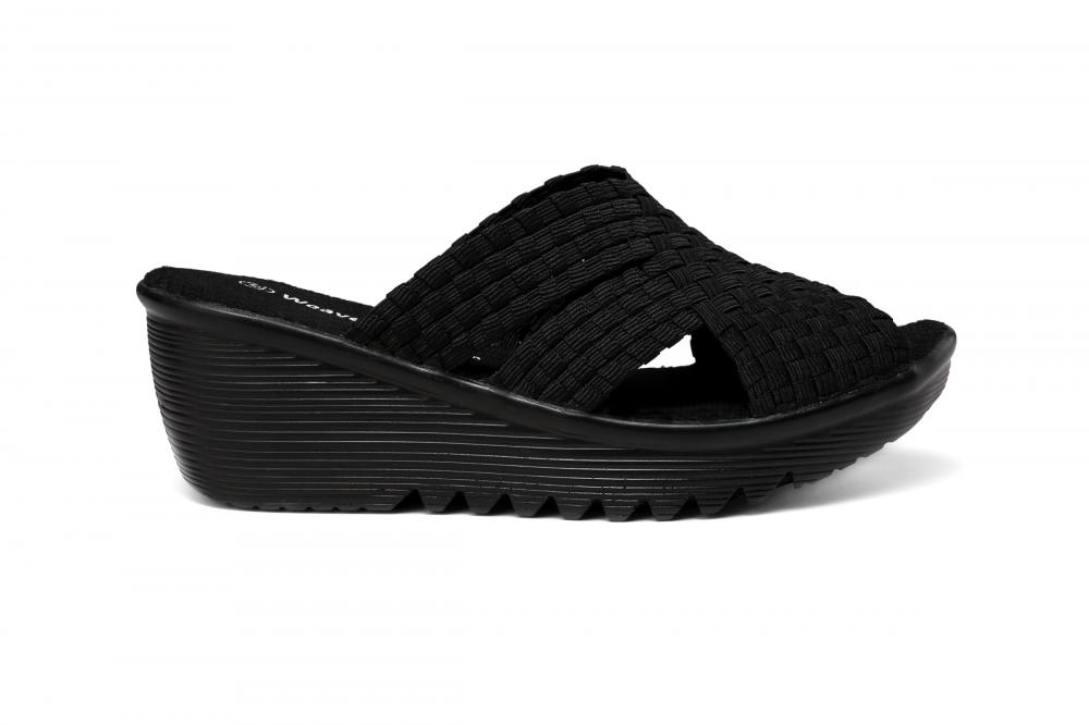 Open Toe Woven Slippers