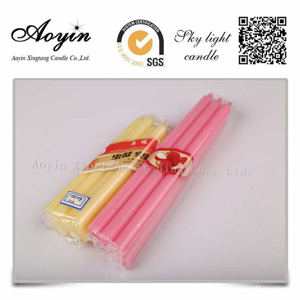 Discount 14g white taper candles in bulk