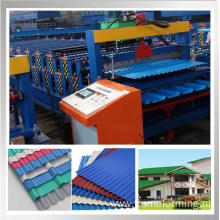 double layer color coated sheet roll forming machine