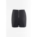 Woven stripes shorts hot pants