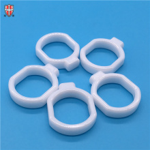 wearable shining zirconia ZrO2 ceramic ring loop link