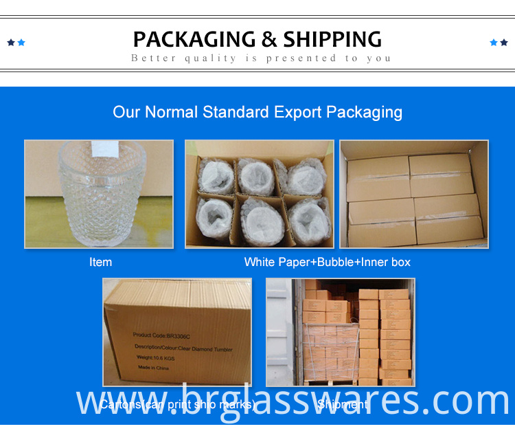 Packing of mouth blown glass hurricane candle holders