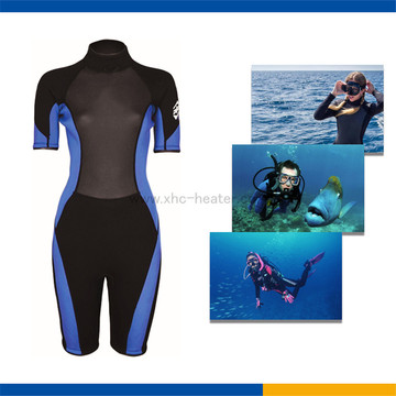 Thermal protection diving suit heating flim
