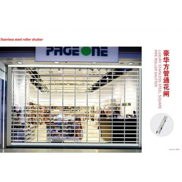 Commercial Store Transparent Crystal Rolling Shutter Door